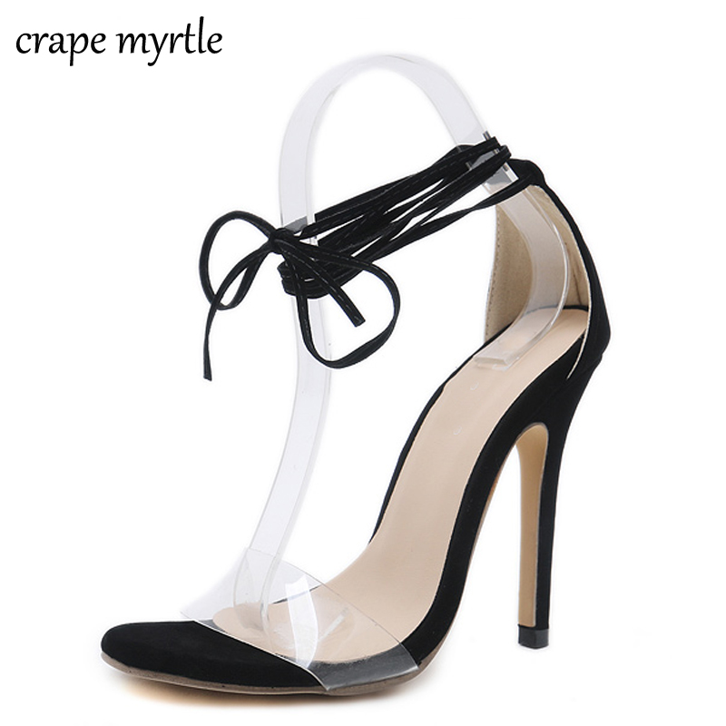 Online Shop strappy high heels lace up sandals thin heels fetish high heels  women sandals summer 2018 low heel women shoes sandals YMA233  f2595f80dd83
