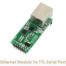 10 шт./лот сетевой модуль Ethernet к последовательному порту RJ45 к сетевому порту TTL может применяться к 232/485 Интернету