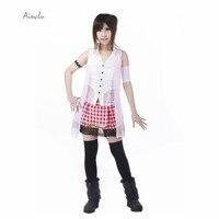 Ainclu Free Shipping New Final Fantasy XIII 13 Serah Farron Game Serah Cosplay Brand Costumes