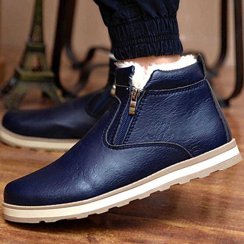 Grande Rond Neige blue Velours 44 Chaud 39 Bout D'hiver Pour Peluche Chaussures Homme Taille black Étanche Cheville Yellow Bottes De En Hommes wFqPqXS