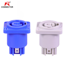 1pc LED Powercon Chassis Connector 3 pin NAC3MPA-1(power-in)&NAC3MPB-1(power-out) 3/16 Flat Tab Terminals Female Socket