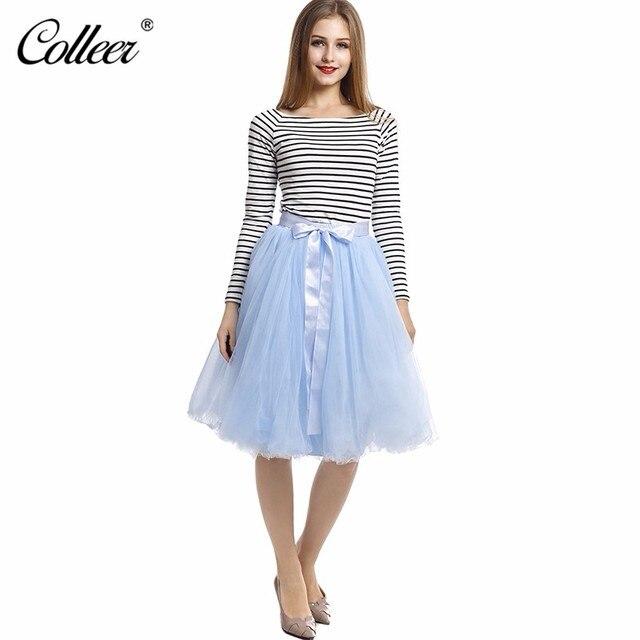 2ab4d8eec1d 7 Layers Midi Tulle Skirts Womens Fashion TUTU Skirt Elegant Wedding Bridal  Bridesmaid Skirt Wedding Lolita Underskirt Petticoat