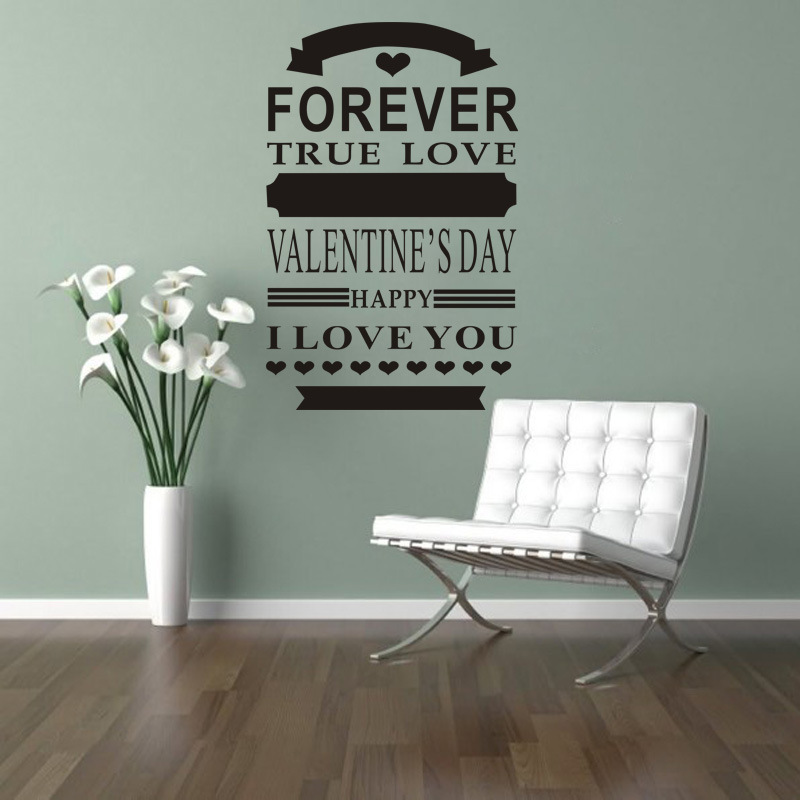 Romantic Bedroom Wall Decor: Romantic English Love Quotes Wall Sticker Living Room