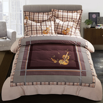 4pcs 100%cotton Sanding Printed Fashion Classic bedding set thick warm duvet cover sets Bed Sheet Pillowcases Queen King size