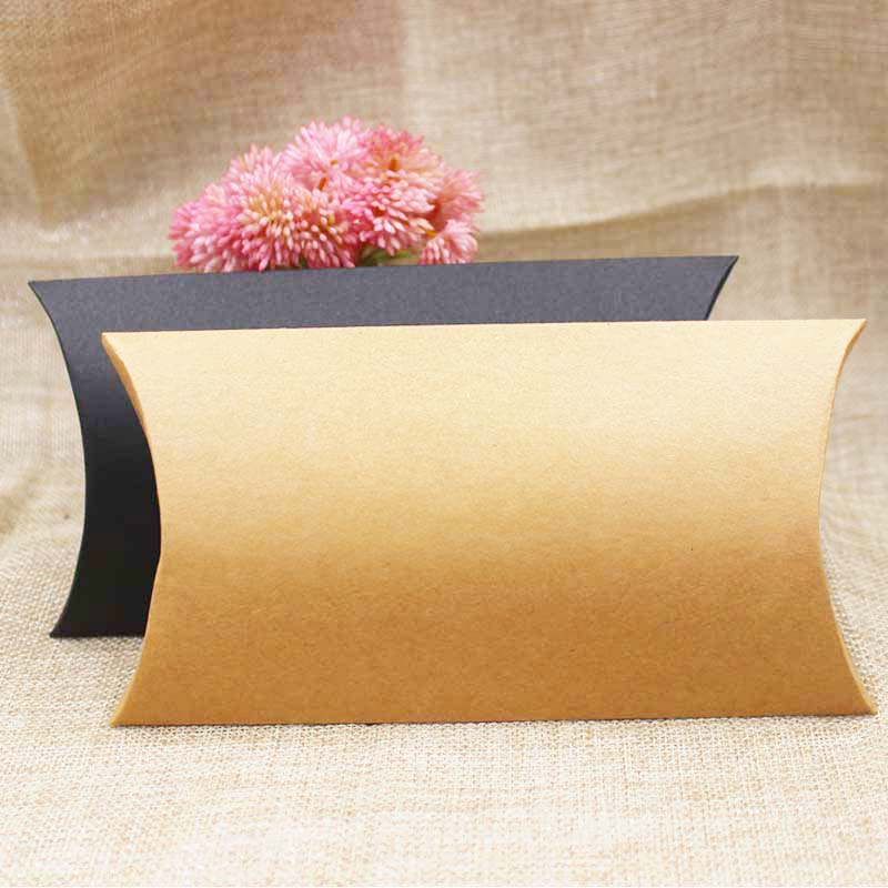 FeiLuanCustom 30pcs Paper Gift Box Candy Favor Packing Pillow Box Brown/black Color Gift Packing & Display Box Custom Cost Extra