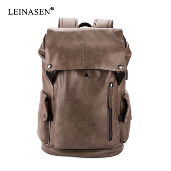 цена на Fashion PU Leather Classic Backpack Travel Backpack Large Capacity Backpack Quality Business Backpack Design Teenager Bag