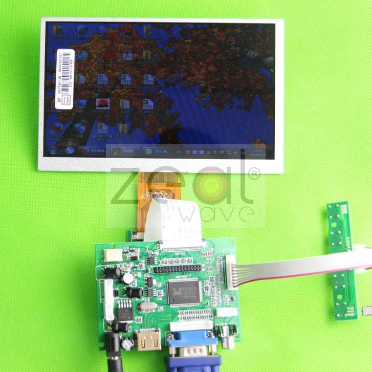 HDMI+VGA+AV1+AV2 7inch Driver Board +7 INCH HJ070NA-13A  LCD Screen 1024*600 40pin LCD Driver kit  For DIY Car DVD автомобильный монитор 7 0 2 av