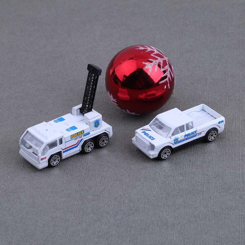 6Pcs/set Mini Alloy Military Engineering Car Model Diecast Kids Children Educational Toys for Christmas Gift