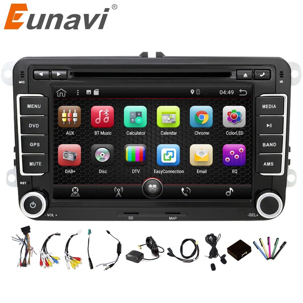 Eunavi 2 Din Android 7 1 Car Audio Car DVD Player GPS Radio For VW GOLF