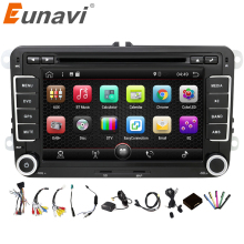 Eunavi 2 Din Android 7.1 Car Audio Car DVD Player GPS Radio For VW GOLF 6 Polo Bora JETTA B6 PASSAT Tiguan SKODA OCTAVIA 3G OBD