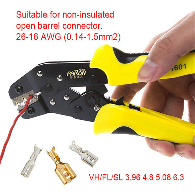 Paron original JX-1601 Multifunctional Ratchet Crimping Tool 26-16 AWG Terminals Pliers Electronics new jx d4301 multifunctional ratchet crimping tool wire strippers terminals pliers kit