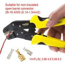 Paron original JX 1601 Multifunctional Ratchet Crimping Tool 26 16 AWG Terminals Pliers font b Electronics