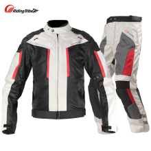 Riding Tribe Windproof Motorcycle Racing Suit Protective Gear Armor Jacket+Motorcycle Pants Hip Protector Moto Set