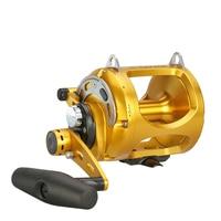 Okuma MK Bait Casting Reel Fishing Gear 4+1BB Double Push Cast Drum Wheel Aluminum Alloy Ocean Fishing Wheel Bastcasting Pesca