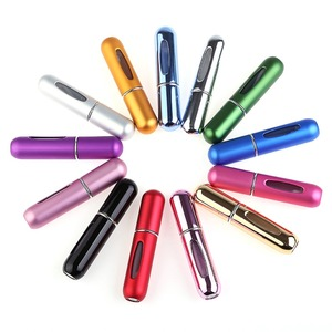 Image 2 - 5 ml de viagem portátil recarregável perfume atomizador garrafa bomba perfume mini tanque armazenamento recipiente cosmético perfume spray garrafa
