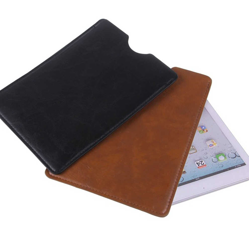 2018 PU Leather 8/9/10 Inch Laptop Cases For Macbook Tablet Ultra Fiber Pouch Protect Bag Slim And Light Sleeve