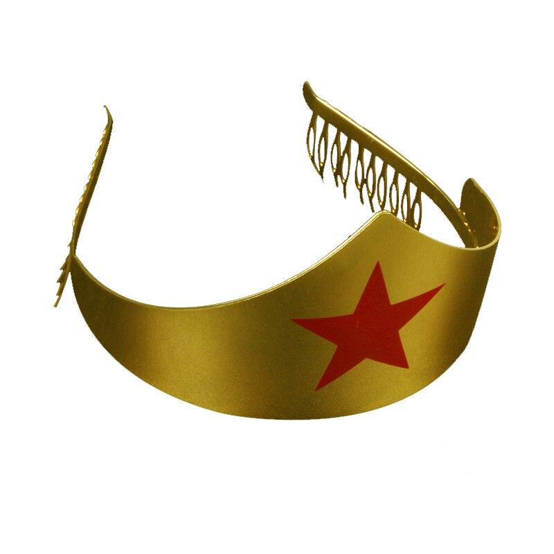 New Wonder Woman Cosplay Crown Gold Metal Costume Accessory Headwear