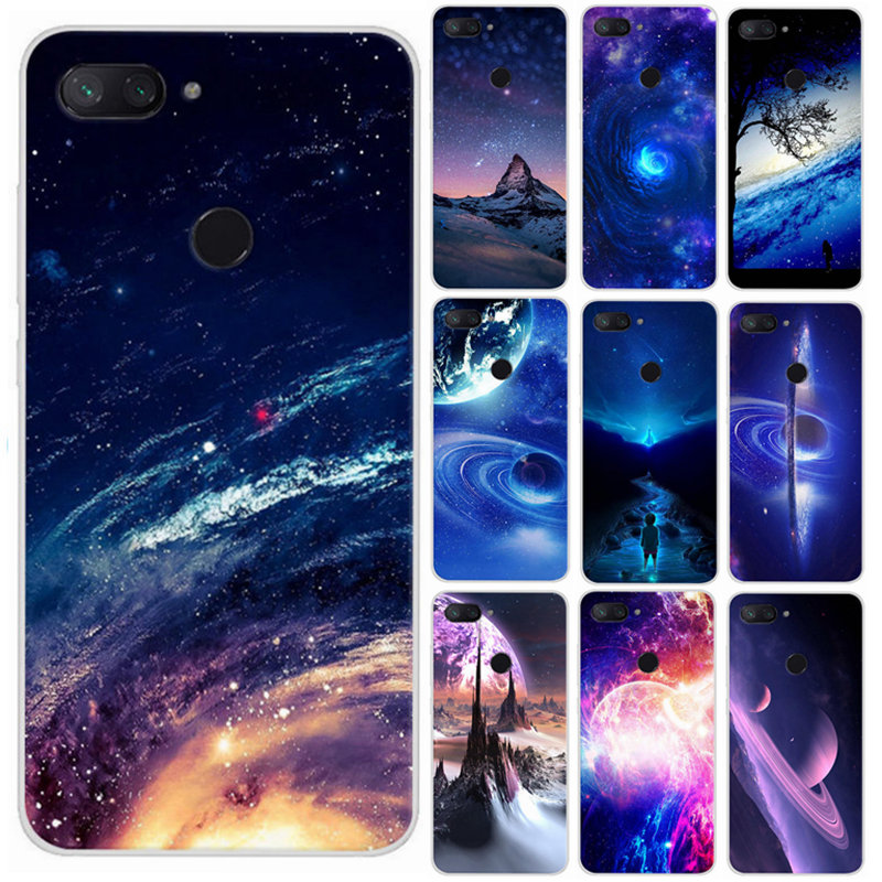 For <font><b>Xiaomi</b></font> Mi 8 pro 64gb <font><b>128gb</b></font> Case Silicone Printing Skin Back Cover For <font><b>Xiaomi</b></font> Mi 8 lite <font><b>Mi8</b></font> Se Global Cellphone Cases Fundas image