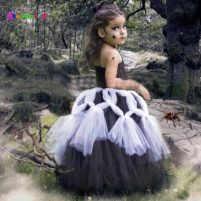 ksummeree girls black spider web tutu dress little witch dress kids halloween costume halloween costume gown