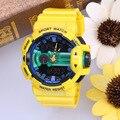 2016 Marca de Luxo Homens Relógio Esportivo Militar LED Digital Quartz À Prova D' Água S CHOQUE Relógio De Pulso relogio masculino de natação ao ar livre