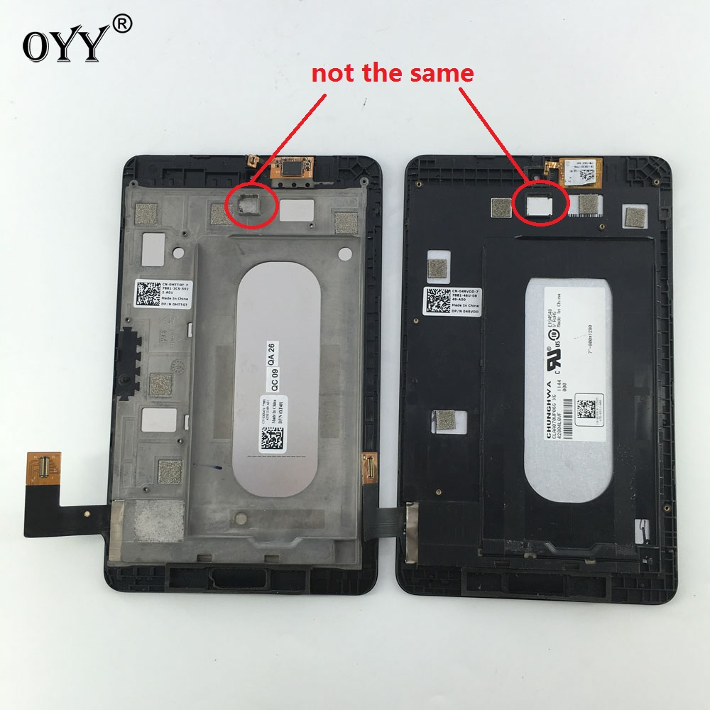 used LCD Display Panel Screen Monitor Touch Screen Digitizer Glass Assembly with frame For Dell Venue 7 T01C 3740 3730 smartphone black white 5 7 for explay cinema lcd screen display digitizer with touch screen complete assembly tracking code