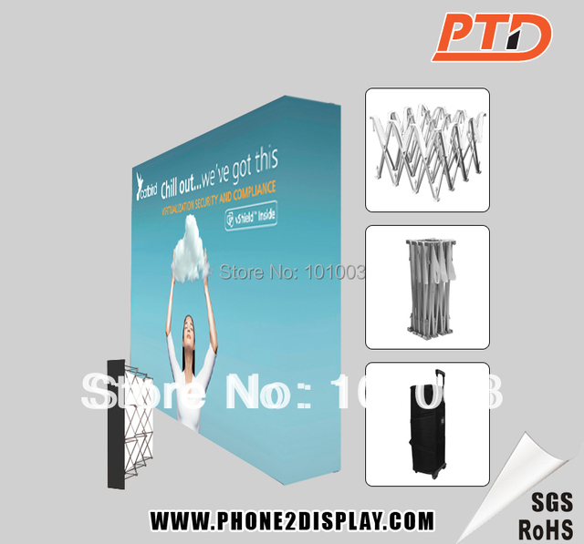 8ft Velcro Fabric Pop Up Stands, Trade show booth, One fabric wall