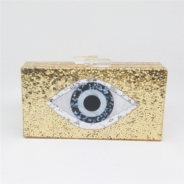 Newest Animail Designer Evil Eye Bag Crystal Purse Women Evening Bag Gold Silver Black Party Clutch Lady banquet pochette