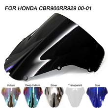 Black Motorcycle Motorbike Windshield Windscreen Wind Deflectors For Honda CBR900RR CBR929RR CBR 900RR 929RR 2000 2001 2000-2001 motorcycle accessories front rider seat leather cover for honda cbr900rr cbr929 2000 2001 cbr 900rr