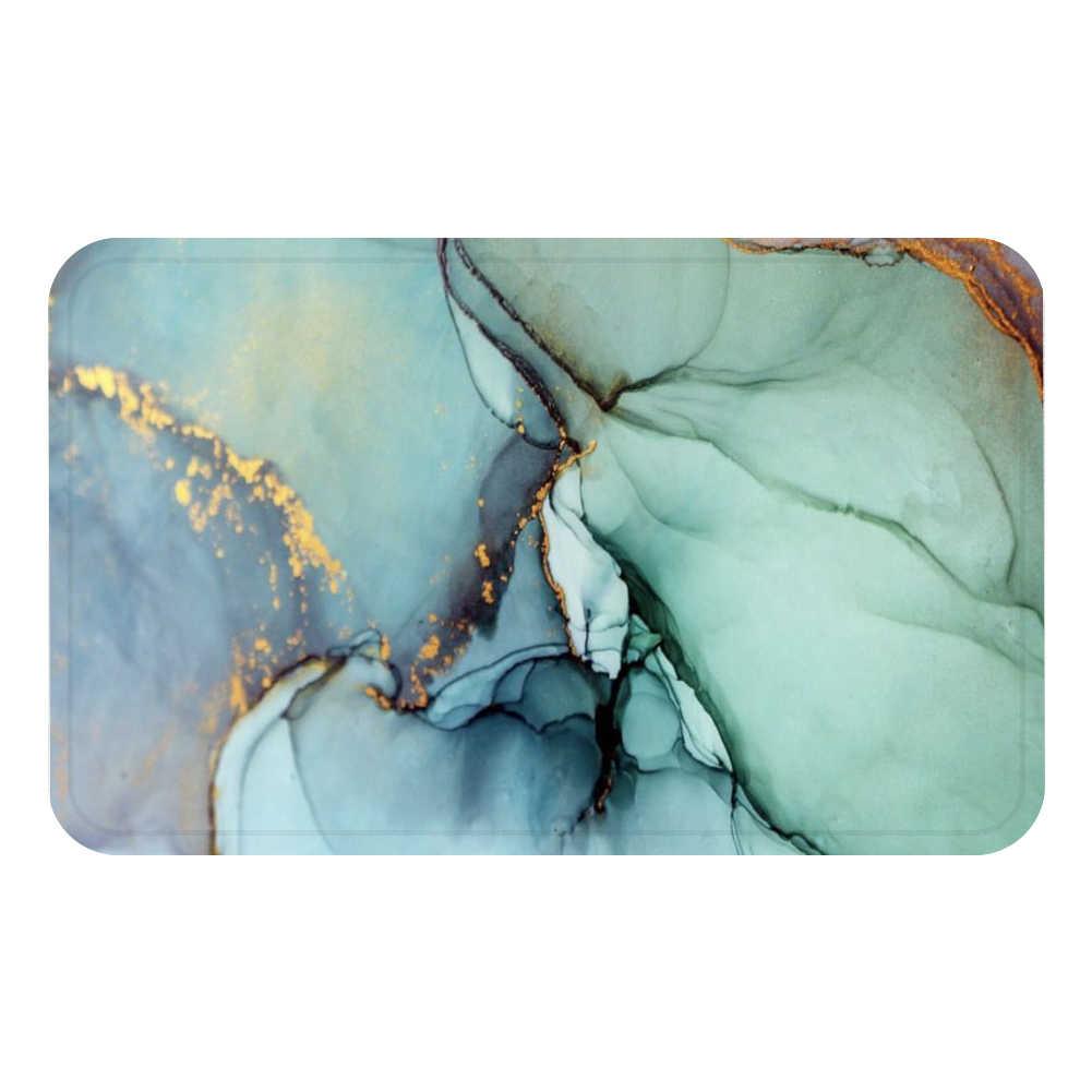 Радужный золотой мраморный винтажный коврик для ванной кухонный ковер декоративные Противоскользящие коврики комната автомобиль пол бар ковры домашний декор для дверей подарок