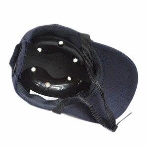 Image 3 - عثرة قبعة العمل خوذة أمان ABS الداخلية شل قبعات بيسبول نمط واقية قبعة صلبة لملابس العمل رئيس حماية أعلى 6 ثقوب