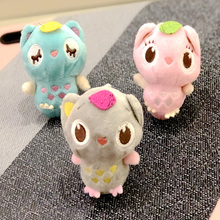 Plush Animal Leaves Owl Doll Plush Stuffed Toy Cute Bird Bag Key Ring Owl Doll Doll Pendant Children Plush Toy Gift стоимость