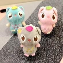 Plush Animal Leaves Owl Doll Stuffed Toy Cute Bird Bag Key Ring Pendant Children Gift