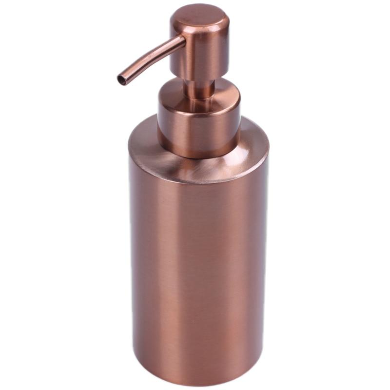 Stainless Steel Rose Gold Soap Dispenser Bathroom Hand Pump Liquid Soap Dispenser Lotion Bottle Bathroom Tool