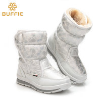 Warm Fur Mid Calf Waterproof Winter S New Women Snow Boots Lady Shoes Daughter Girl White