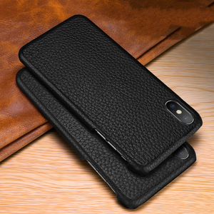 Image 2 - First layer cowhide Business Genuine Leather case cover For Iphone XS MAX XS XR X Matte Phone Case