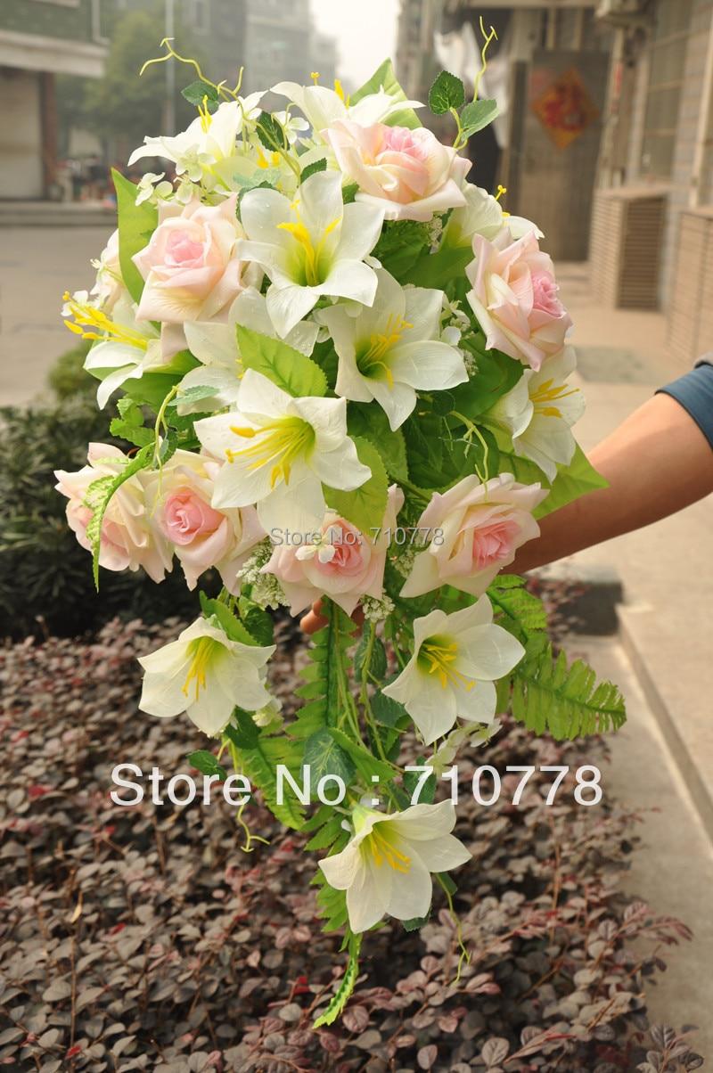 Wedding Bouquet Artificial Fabric Silk Flowers Wedding Supplier