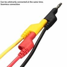 Новый 3 Шт. Черный/Желтый/Красный 15A 1 М 4 мм Штепсельной вилки банана, чтобы Крокодил Питания Тест Крокодил Кабельный Ввод 18AWG Медной Проволоки ПВХ
