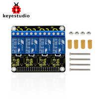 Bouclier relais Keyestudio RPI 4 canaux 5 V pour Raspberry Pi A +/B +/Pi 2/Pi 3 modèle B/CE