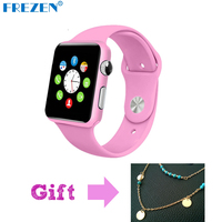 FREZEN G11 Relógio Inteligente Bluetooth Relógio de Pulso Para Mulheres De Fitness Rosa Presente reloj con Sim Card Android Inteligente Smartwatch