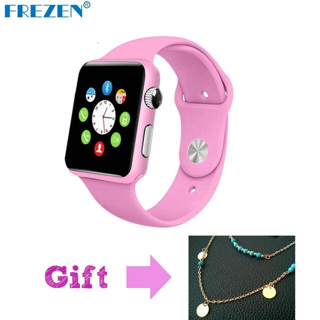 Frezen G11 Смарт часы Bluetooth розовый Фитнес наручные часы для Для женщин подарок Reloj con sim-карты Android inteligente SmartWatch