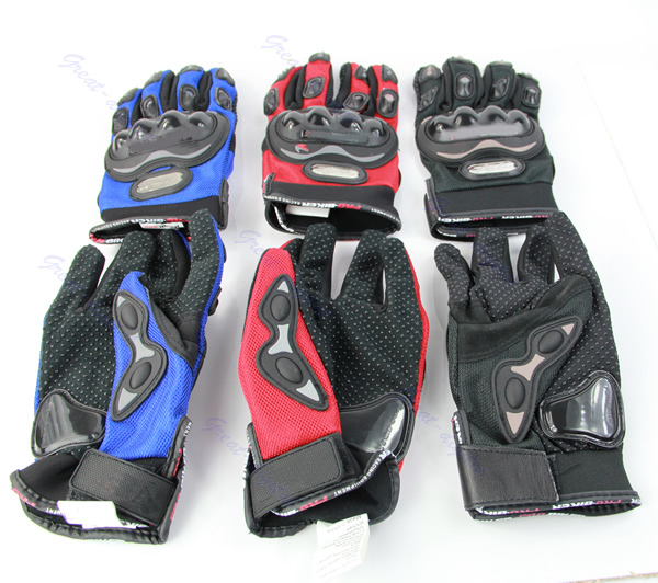 Pro Street Motocross Motorcycle Motorbike Bike Racing Full Finger Gloves XL 3Color...