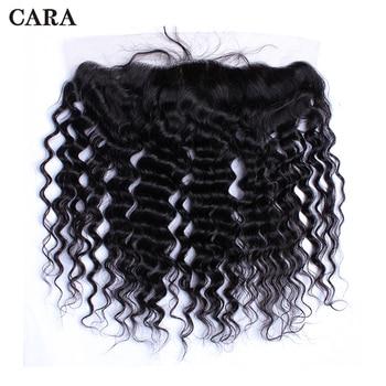 Silk Base Closure Deep Wave Brazilian Virgin Hair 13x4 Lace Frontal Closure Silk Base Top Unprocessed Human Hair For Women CARA