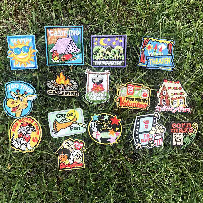 Pulaqi Outdoor Camping Embroidery Applique Clothes Badges Patch Biker Patches Sew On Letters Logo Patches For Jeans Diy H