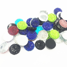 100Pcs Mixed Color Cameo Cabochon Decoration Round Dot Flat Back Resin Fashion Jewelry DIY Findings Charms 12x3mm