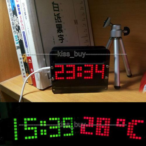 DS3231 DIY 51 microordenador electrónico LED reloj despertador digital de temperatura