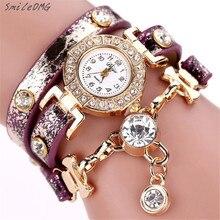 SmileOMG Duoya Горячей продажи моды роскошь кристалл кулон женщины часы браслет смотреть женщины наручные часы Бесплатная Доставка, сентября 7