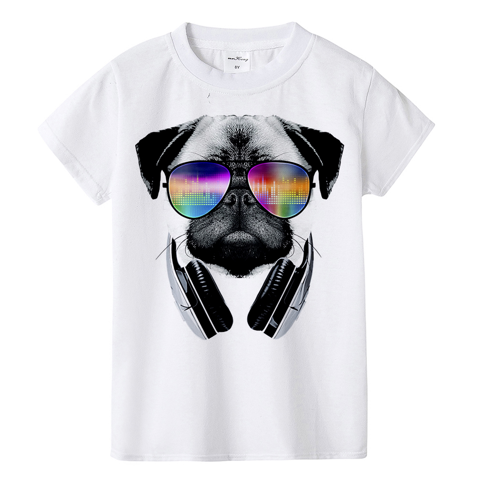 2018 Summer DJ Dog Kids T Shirt High Quality Funny Dj Pug Tops Boys Girls Children Hipster Tees Pug Sunglass T-shirt Fashion the creative coloring book for adults relieve stress picture book painting drawing relax adult coloring books in total 4