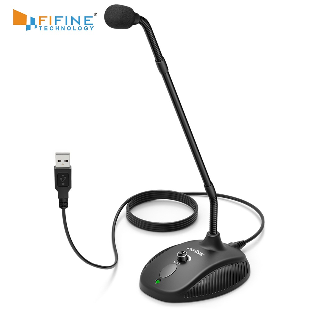 Fifine 360 Flexible Gooseneck Usb Microphone For Computer Broadcasting,instrument Recording,vedio,gaming K052