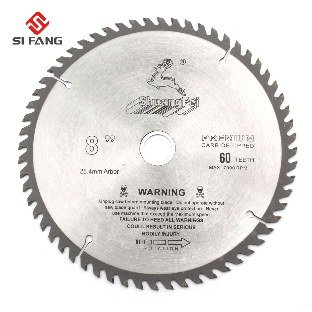 4 6 7 8 9 10 inch General Purpose Circular Saw Blade Carbide Tip For Cutting Wood Aluminum 40T 60T 80T 100T 120T in Saw Blades from Tools