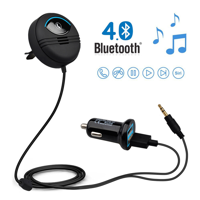 US $18 63 19% OFF|Auto Connect AUX Bluetooth Handsfree Car Kit Car Hand  free Bluetooth Version 4 1 Built in Audio Noise Isolation Chip Display-in